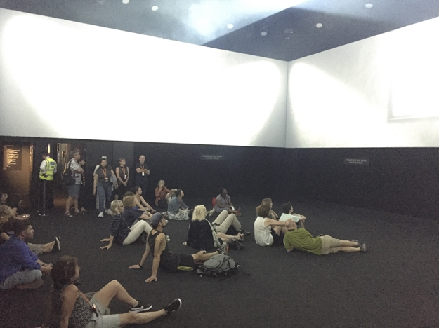 The concert space in the Pink Floyd exhibition.