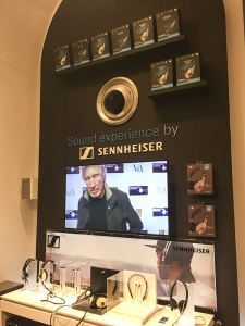 Sennheiser products for sale in the Pink Floyd gift shop