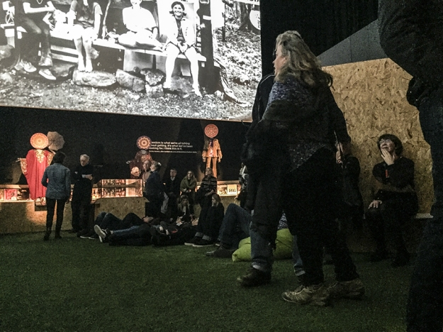 The concert space in the Revolution exhibition.