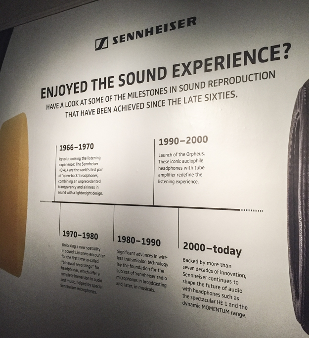 'Milestones in sound reproduction' didactic at the end of the Revolutions exhibition.